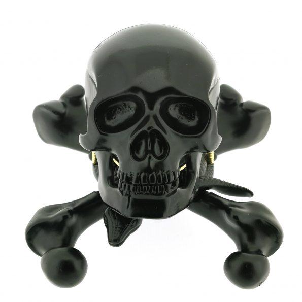 Unique CORUM Jolly Roger Skull Alarm Desk Clock, Prototype 1/1, 2000, w. BOX