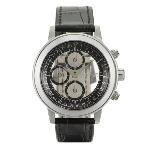 QUINTING Steel Chronograph Mysterious Watch, Ref. QSL55
