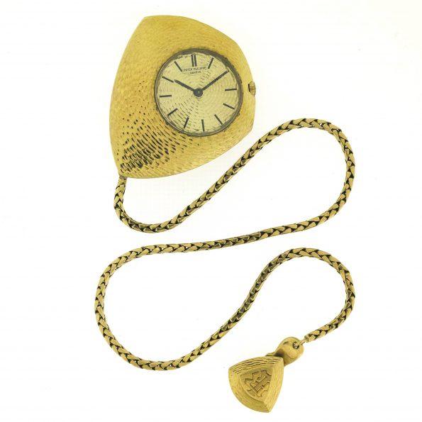 Rare PATEK PHILIPPE Ricochet 18K Gold Asymmetrical Pocket watch, Ref.788/4, 1966