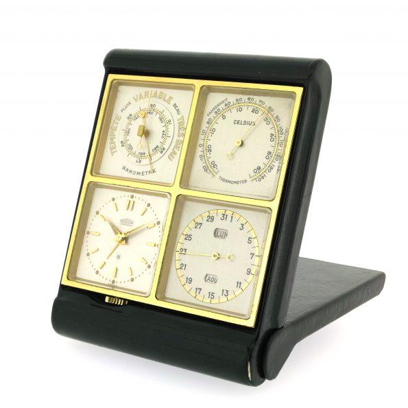 Rare Working ANGELUS Foursome SF 240 8 Days Alarm Clock Watch Cal. PANERAI 203