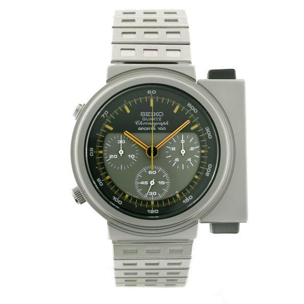 Vintage Seiko Giugiaro 7A28-7000 Ripley's ALIEN Watch, Sports 100 Chronograph