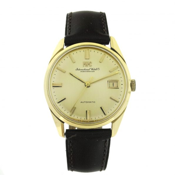 Vintage IWC Automatic 18K Gold Mens Watch, Ref. R 810A, Cal. 8541, 34mm, 1960s