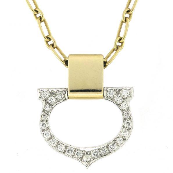 "CARTIER Gold and Diamond ""C"" Pendant"