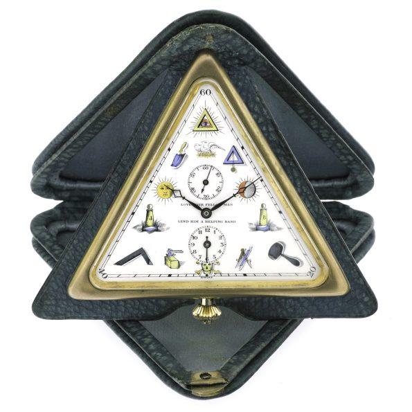 Tempor Watch Masonic Alarm Clock, 1930s