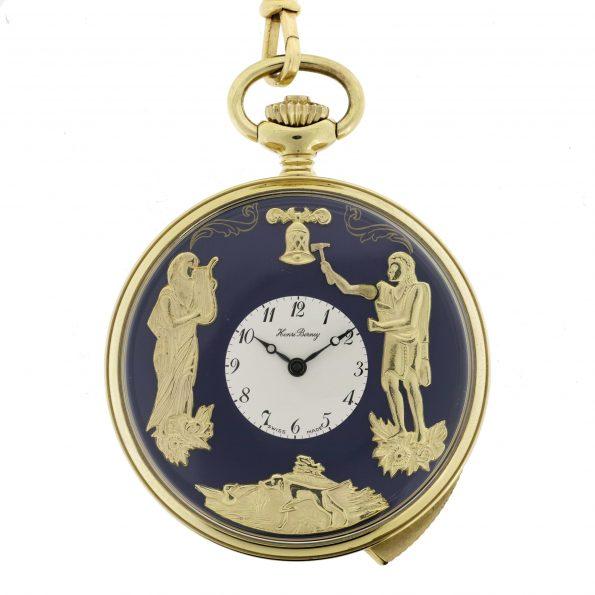 Henri Berney Blondeau, 5 min Repeater Automaton Pocket Watch