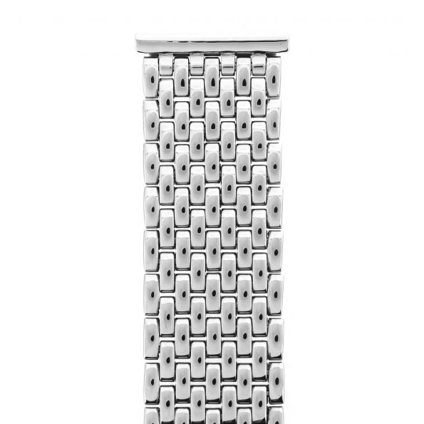 Gay Frères (GF) beads-of-rice stainless steel bracelet