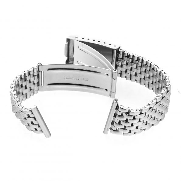 Beads of rice steel bracelet, Gay Freres style