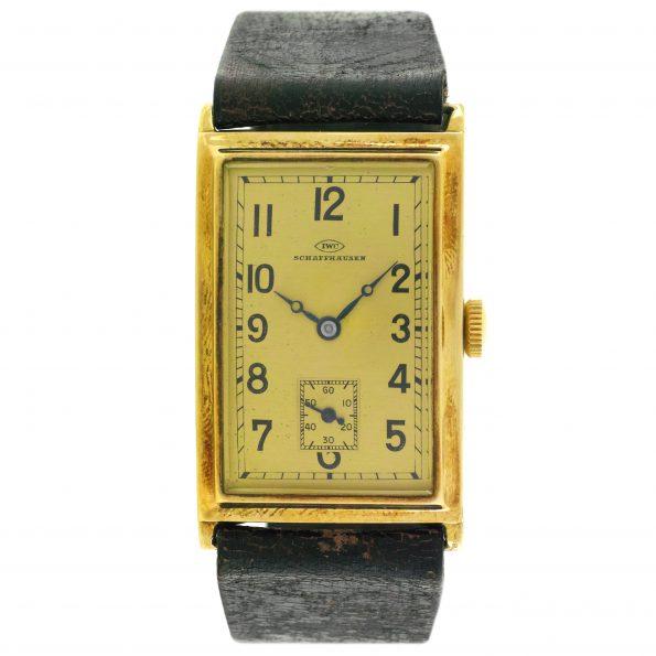 Vintage IWC (International Watch Company) Art Deco Rectangular, 14k, 1930s