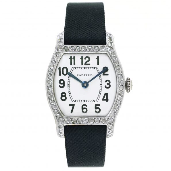 "Art Deco Platinum & Diamond ""Tortue"", Cartier"