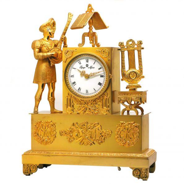 "Reuge Music ""The Troubadour"" clock, 72-notes music box"