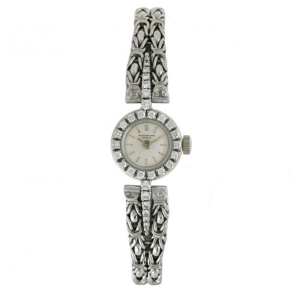 Patek Philippe Diamonds 18k White Gold Watch, Ref. 3267/6
