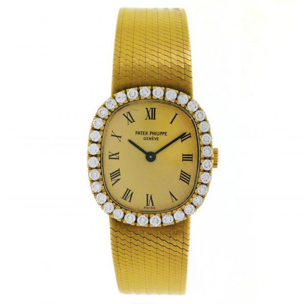 Patek Philippe 18K Yellow Gold Diamonds, Ref. 4134/4