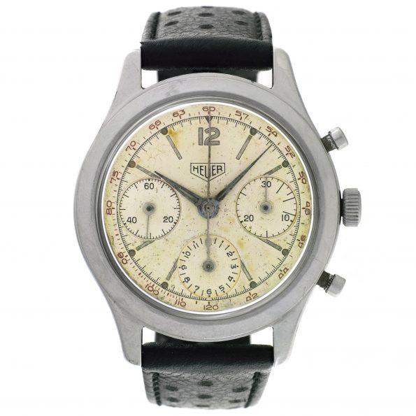Heuer Chronograph, Ref. 2444 T, Calibre Valjoux 72