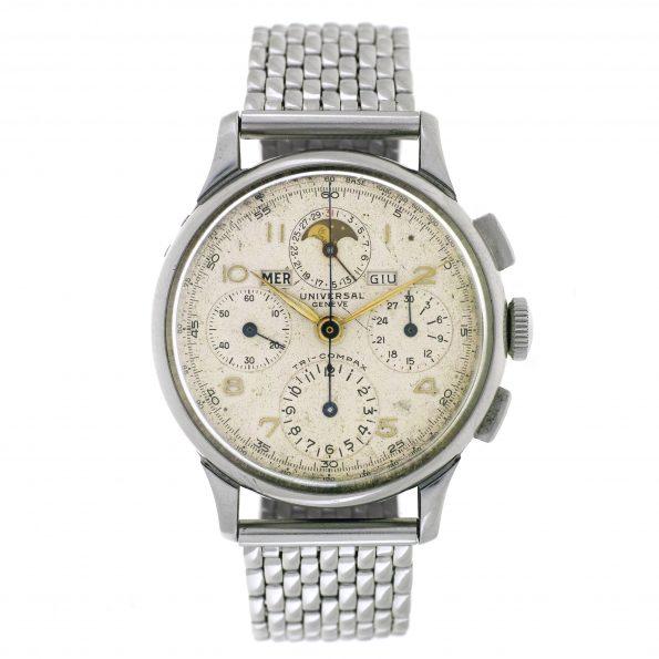 Universal Geneve Tri-Compax wristwatch, Ref. 22543