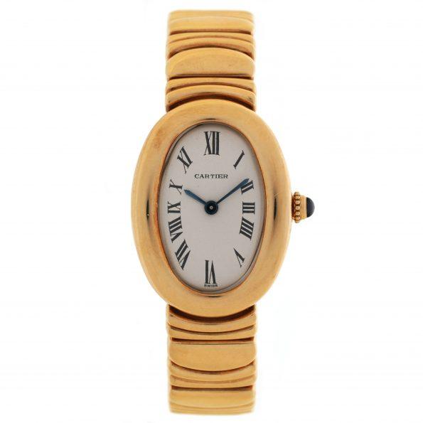 Cartier Baignoire 18k Yellow Gold Quartz
