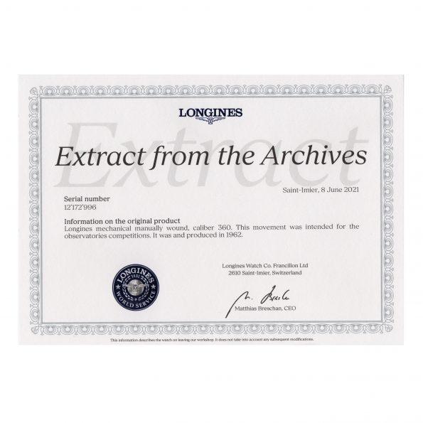 Archive extract Longines 360