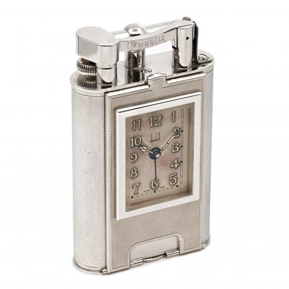 Giant DUNHILL Charleston Table Lighter, Alarm Clock Watch, LE 158/200, 1995